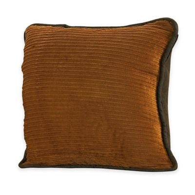 HiEnd Accents Ocala Corduroy Square Throw Pillow in Gold