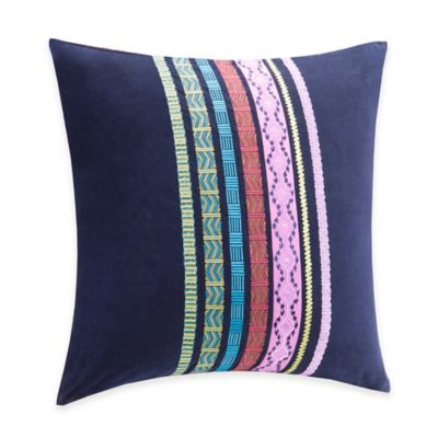 Josie by Natori Katina European Pillow Sham in Dark Blue