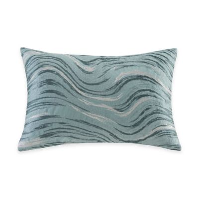 Metropolitan Home Marble Oblong Throw Pillow in Blue