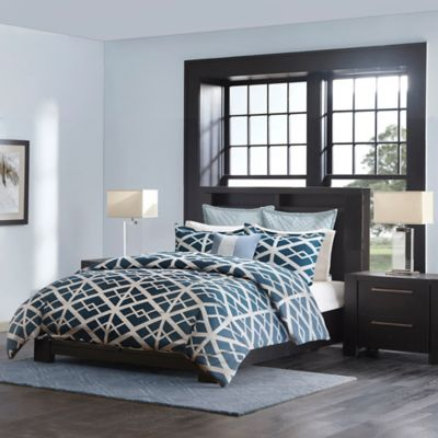 Metropolitan Home Kenmare Queen Duvet Cover Set in Blue