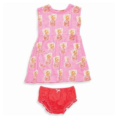 Pink Dress and Diaper Cover Set