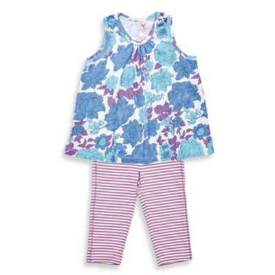 Pink Chicken Size 6-12M 2-Piece Grace Sleeveless Tunic and Legging Set in Blue/Purple