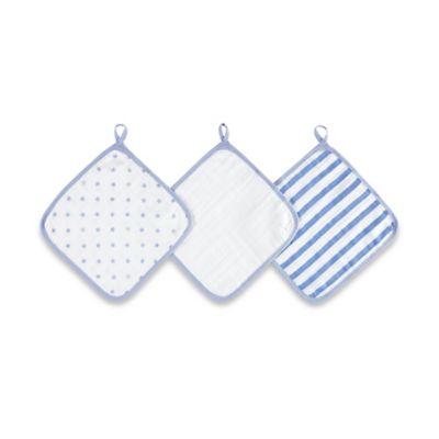 aden® by aden + anais® 3-Pack Washcloth Set in Dashing