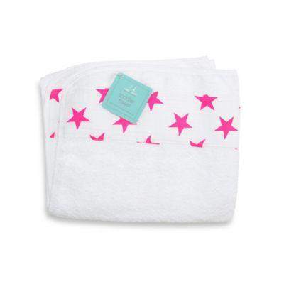 aden + anais® Toddler Towel in Fluro Pink