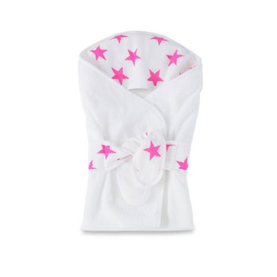 aden + anais® Hooded Bath Wrap in Fluro Pink