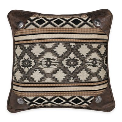 HiEnd Accents Tucson Concho-Accented Printed Square Throw Pillow