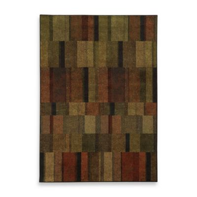 Oriental Weavers Parker Boxes 3-Foot 10-Inch x 5-Foot 5-Inch Area Rug in Brown