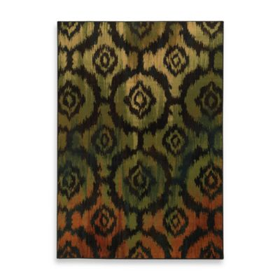 Oriental Weavers Parker Ikat 1-Foot 10-Inch x 7-Foot 6-Inch Runner in Black Multi