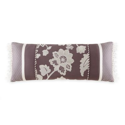 Waterford® Linens Adelisa Floral Oblong Throw Pillow in Plum