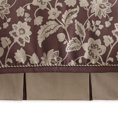 Waterford® Linens Adelisa King Bed Skirt in Plum
