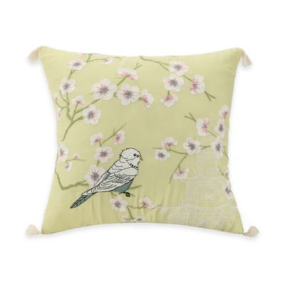 Jessica Simpson Elodie Square Parakeet Throw Pillow