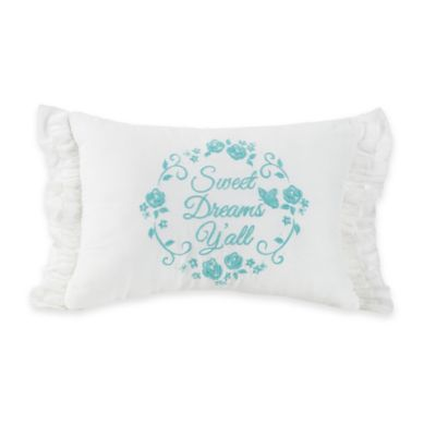 "Jessica Simpson Elodie ""Sweet Dreams, Y'all"" Throw Pillow"