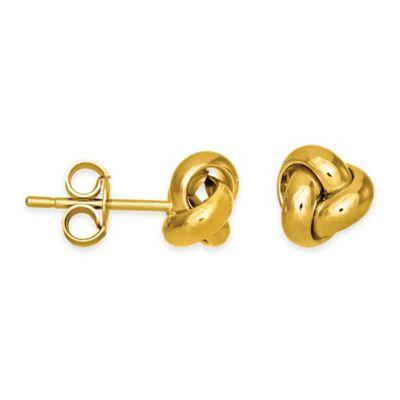 14K Yellow Stud Earrings