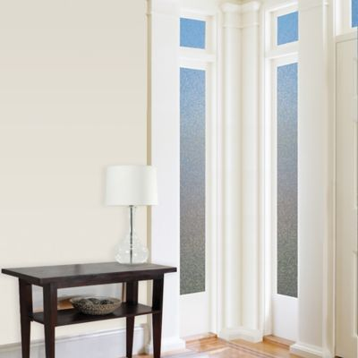 Cubix Premium Static Cling Sidelight Window Film in Blue/Beige