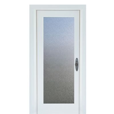 Cubix Premium Static Cling Glass Door Film in Blue/Beige