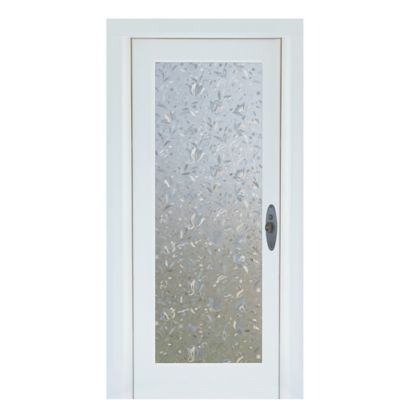 Cut Floral Premium Static Cling Glass Door Film in Clear