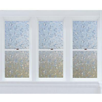 Cut Floral Premium Static Cling Window Film