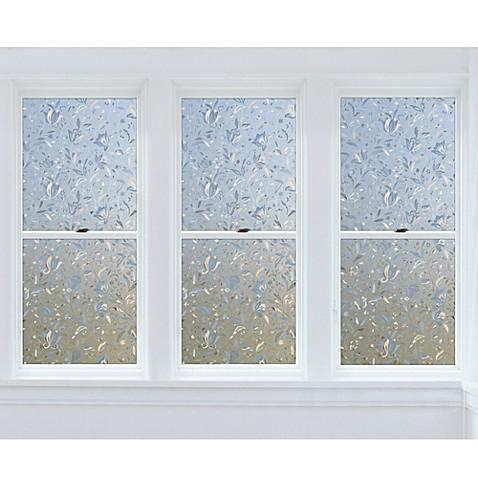 cut floral premium static cling window film in clear. Black Bedroom Furniture Sets. Home Design Ideas