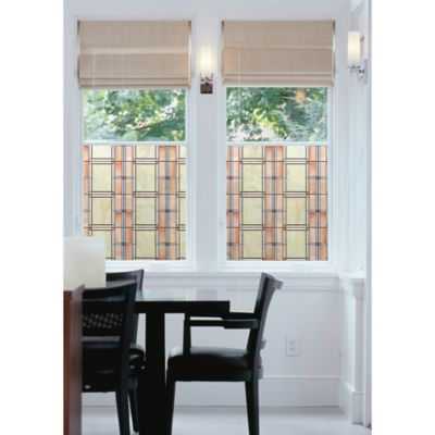2-Pack Arts & Crafts Peel & Stick Window Film in Orange/Yellow