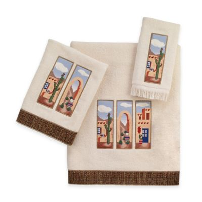 Avanti Adobe Village Fingertip Towel in Ivory