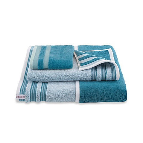 Buy Izod Oxford Reversible Hand Towel In Blue From Bed