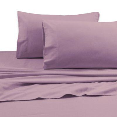 Tribeca Living 170 GSM Solid Flannel Deep Pocket Queen Sheet Set in Lavender