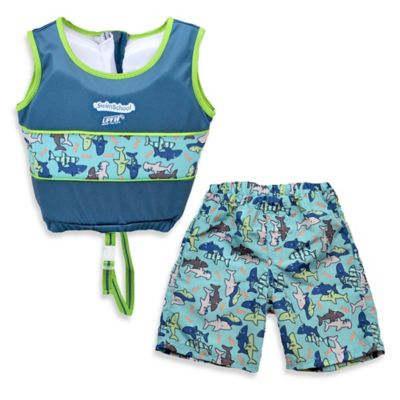 Aqua Leisure® Boys' Medium 2-Piece Swim Trainer in Blue
