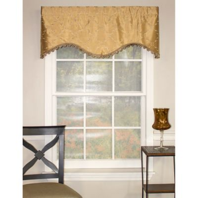 RL Fisher Summit Diamond Cornice Window Valance in Gold