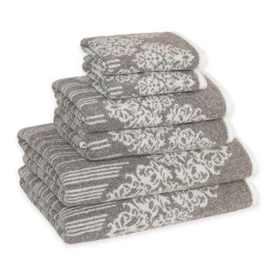 Linum Home Textiles Gioia Cotton Bath Towels in Vintage Brown (Set of 6)