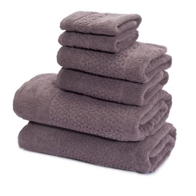 White and Grey Designed Bath Towels