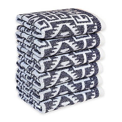linum home textiles kula washcloths set of 6 bed bath. Black Bedroom Furniture Sets. Home Design Ideas