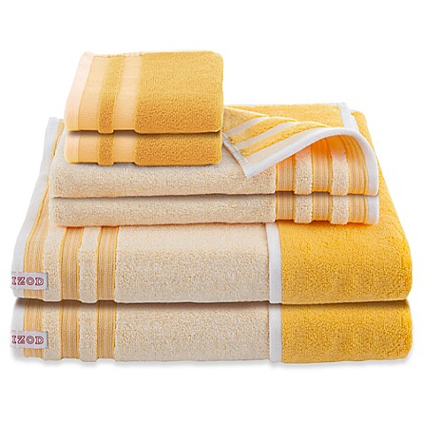 Izod 174 Oxford Reversible Bath Towels Set Of 6 Bed Bath