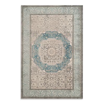 Safavieh Sofia Collection Medallion 8-Foot x 11-Foot Area Rug in Blue/Grey