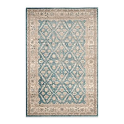 Safavieh Sofia Collection Diamond Border 5-Foot 1-Inch x 7-Foot 7-Inch Area Rug in Blue