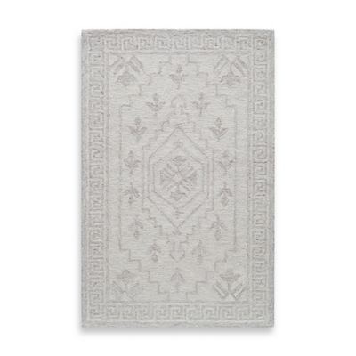 Rugs America Cortland Floral 2-Foot x 3-Foot Accent Rug in Ivory Fog