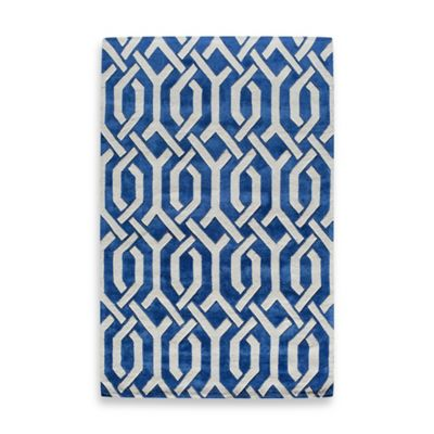Rugs America Jourdan Sawyer 5-Foot x 8-Foot Area Rug in Blue