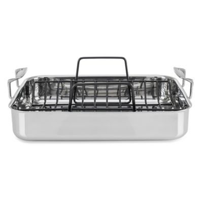 Viking® 3-Ply Stainless Steel Roaster with Rack
