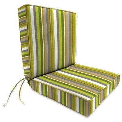 44-Inch x 22-Inch Dining Chair Cushion in Sunbrella® Carousel Limelight