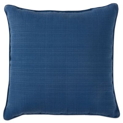 Forsyth Outdoor 17-Inch Square Throw Pillow in Indigo