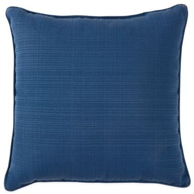 Forsyth Outdoor 20-Inch Square Throw Pillow in Indigo