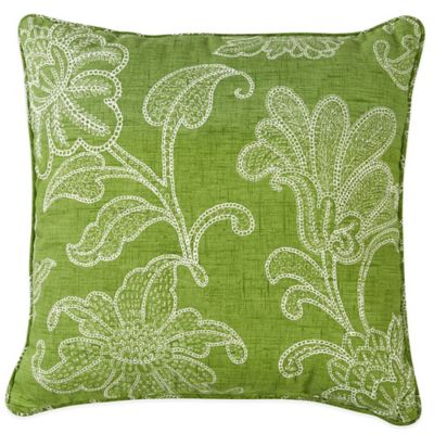 Ellie Outdoor 17-Inch Square Throw Pillow in Kiwi