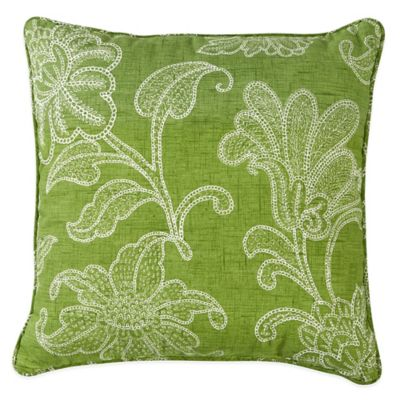 Ellie Outdoor 20-Inch Throw Pillow in Kiwi