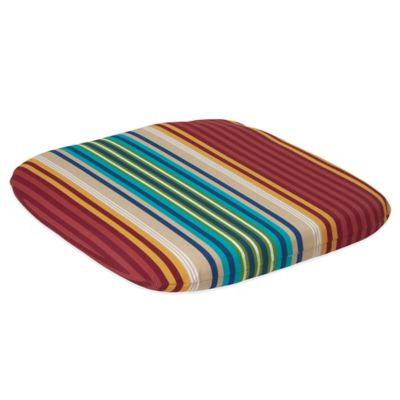 Seat Pad in Modern Stripe