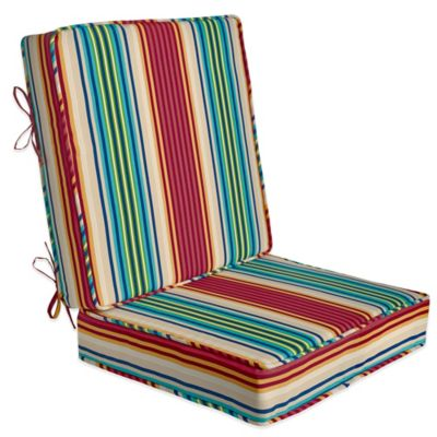 2-Piece Deep-Seat Cushion in Modern Stripe