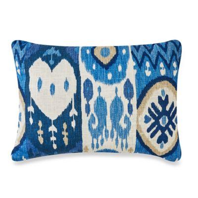 Kachina 12-Inch x 16-Inch Oblong Throw Pillow in Indigo Ikat