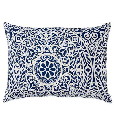 Tachenda Outdoor Oblong Throw Pillow in Indigo
