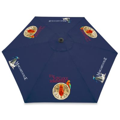 "Margaritaville® ""It's 5 O'Clock Somewhere"" 10-Foot Market Umbrella in Blue"