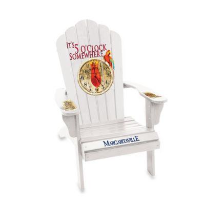 "Margaritaville® ""It's 5 O'Clock Somewhere"" Wood Adirondack Chair in White"