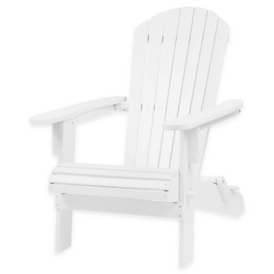 Westerly Acacia Wood Adirondack Folding Chair in White