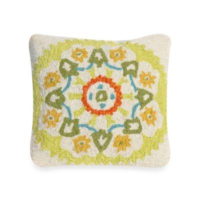 Liora Manne Frontporch Suzanie Square Throw Pillow in Blue